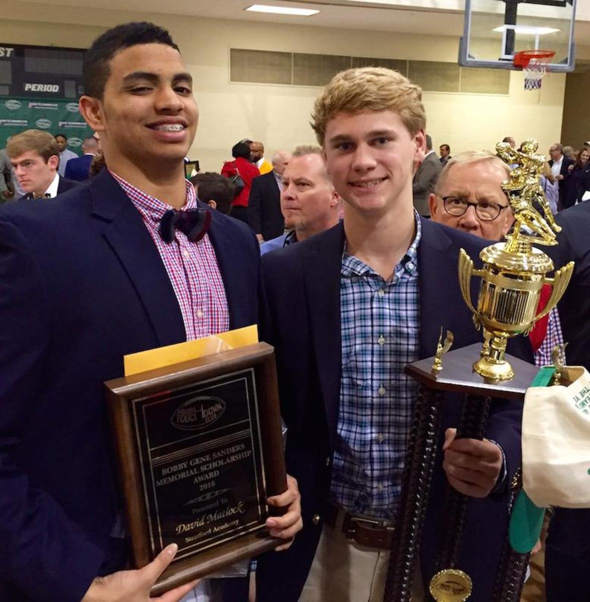 Jamison, Matlock honored by Macon TD Club