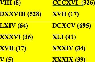 When in Roman Numerals, do as the Eagles do