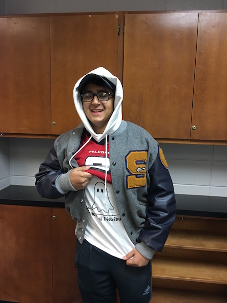Rush Patel dressed up in both athlete and athlete gear on friday