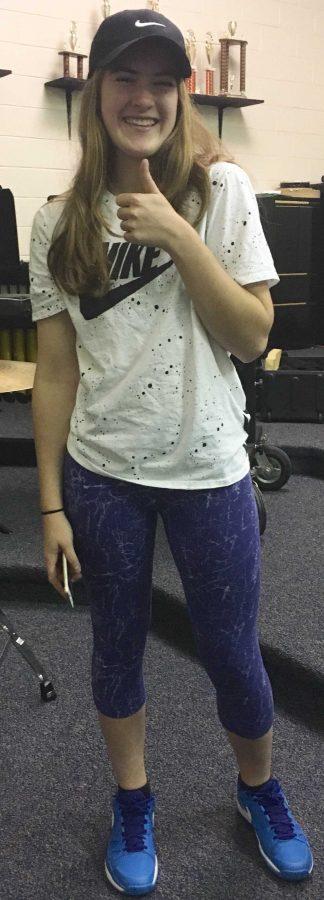 Maggie Fuchs poses in her workout gear. (photo by Zuna Shabbir)