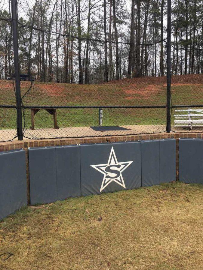 Stratford Star behind home plate on Stratford's softball field (photo by Molly Garud)