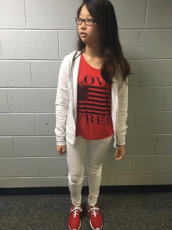 FreshmenLilly Nguyen expresses her American spirit!