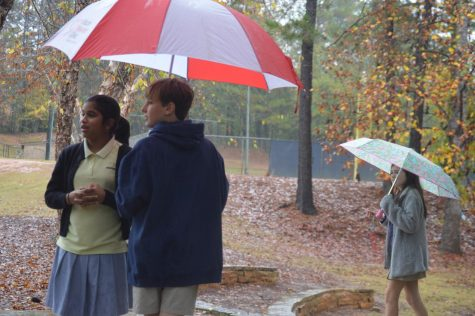 Perfect weather … for a rainy day skit
