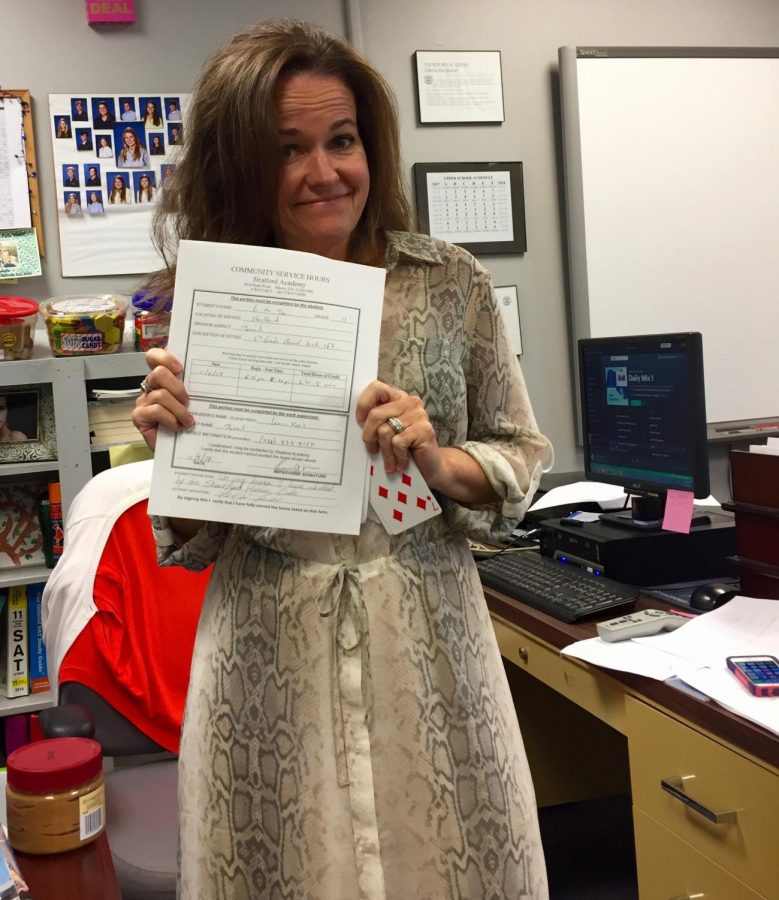 Mrs.+Shannon+Boswell+is+in+charge+of+the+Upper+School+community+service+hours.