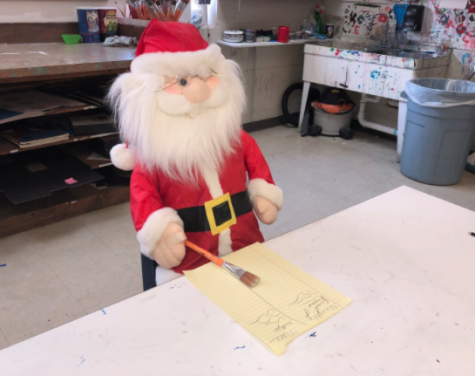 SANTA SIGHTING @ Art Room