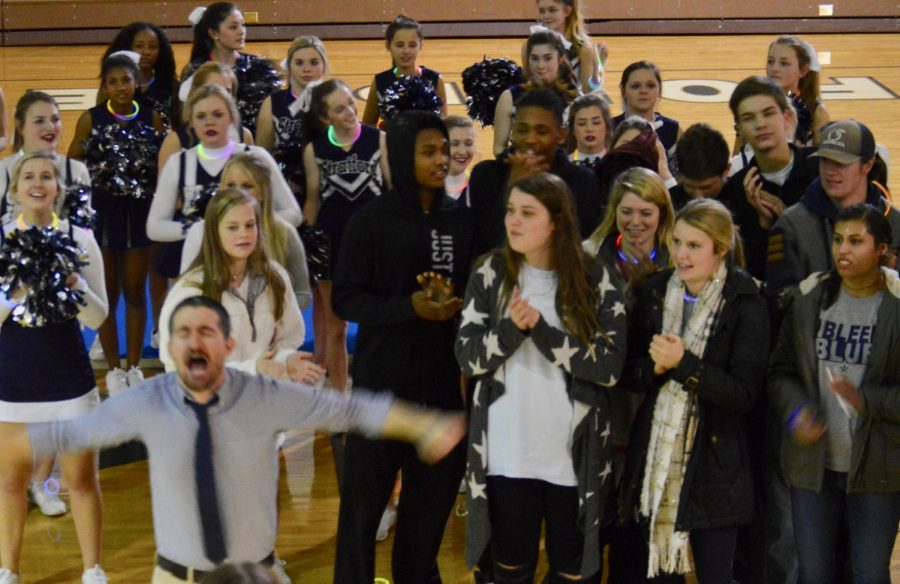 Coach Ross Bridges gets players and students fired up