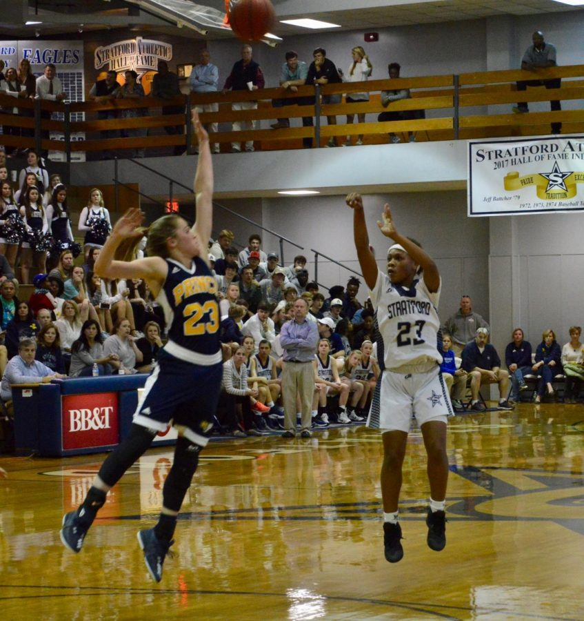 Sophomore Nadia Reese led the Eaglettes with 18 points