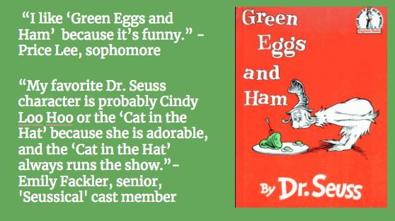 u2018cat in the hat  u2019  u2018green eggs and ham u2019 among favorites