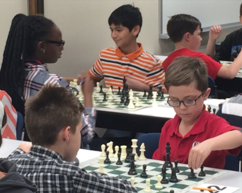 Younger students from other Macon schools played chess matches Saturday at Mercer's Medical School