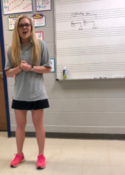 Junior Caroline Cole will perform in Girls Solo for Stratford at the region literary meet