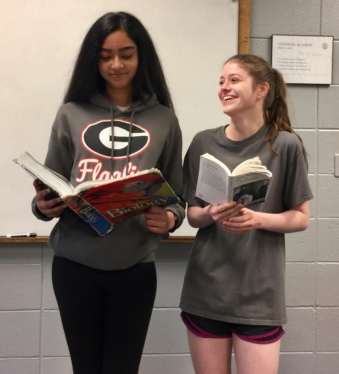 Sai Pagadala, left, and Carter Atkinson are Stratford's Governor's Honors participants