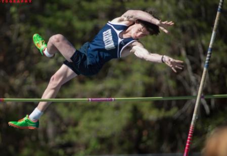Junior McKinley Thompson, shown here in the pole vault, will represent Stratford in the high jump