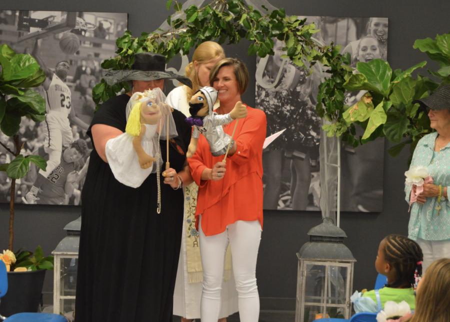 Kindergarten classes enjoy their own royal wedding