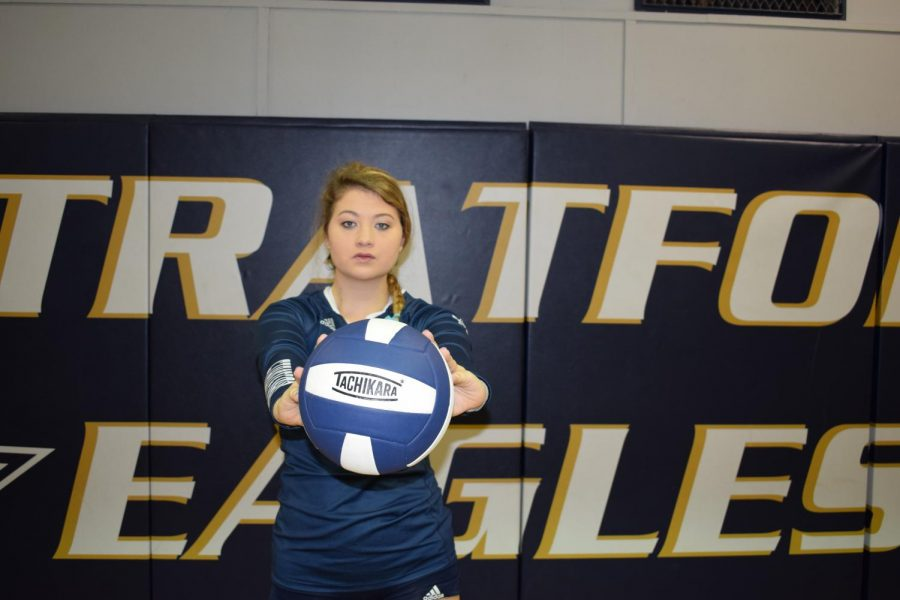 Senior+Kaitlyn+Neel+has+set+school+records+for+career+digs%2C+kills+and+aces.