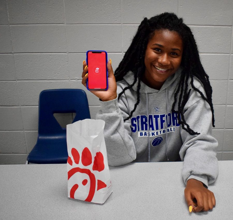 Anaya Thomas never goes hungry with the Chick-fil-A app