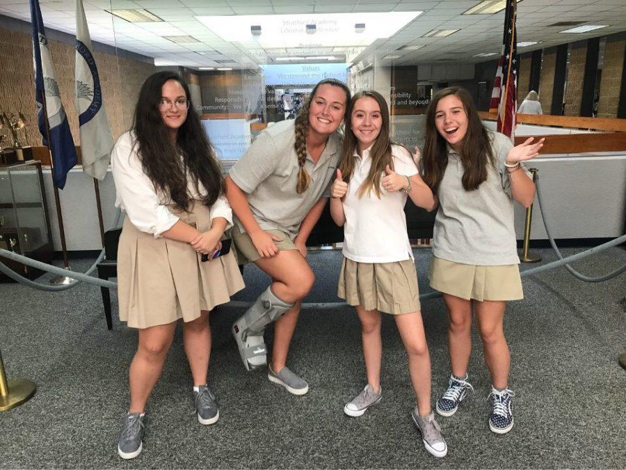 (L-R) Haley Hendricks, Hailey Mosley, Hailey Firlotte and Haley Ellison