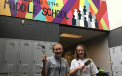 Colorful new mural greets Middle School students