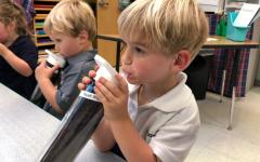 Preschoolers now have reusable water bottles