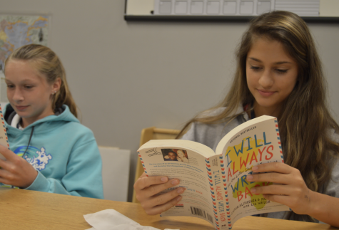 Middle School book club off and reading