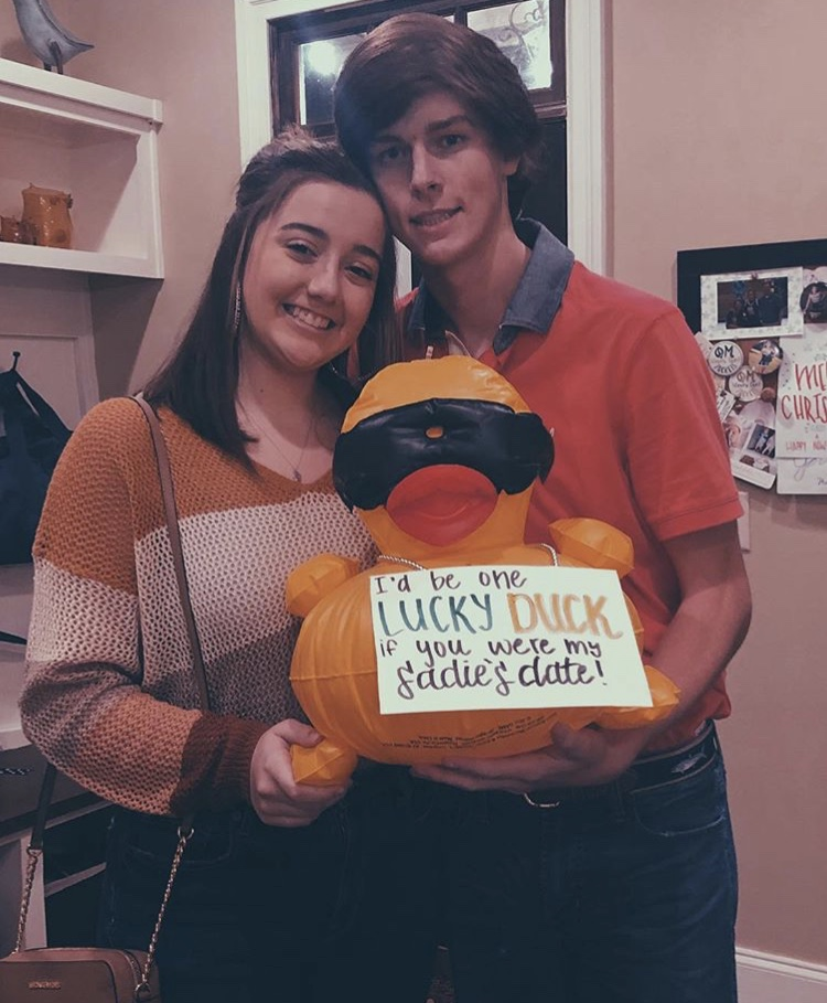Abby Ellison and Carter Barfield