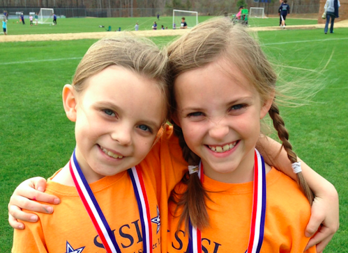 Harley Anne Shurling on the right, and Carly Blackwood on the left in third grade.