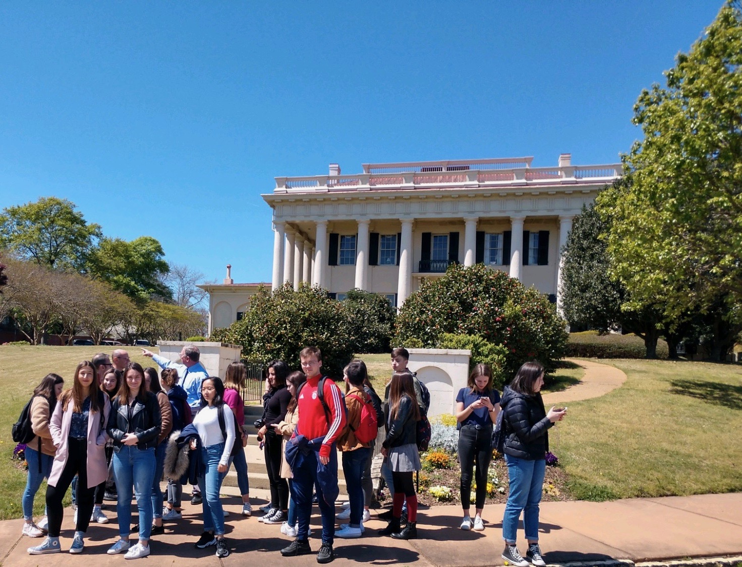 French Exchange students got a tour of downtown Macon earlier this week from Mr. Ed Grisamore and Dr. Bob Veto