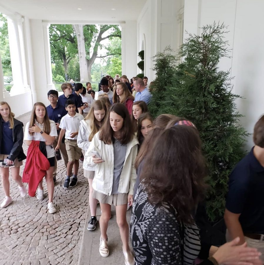 The+2018+trip+visiting+the+White+House.