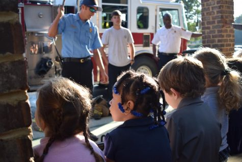 Firefighters bring truck to preschool