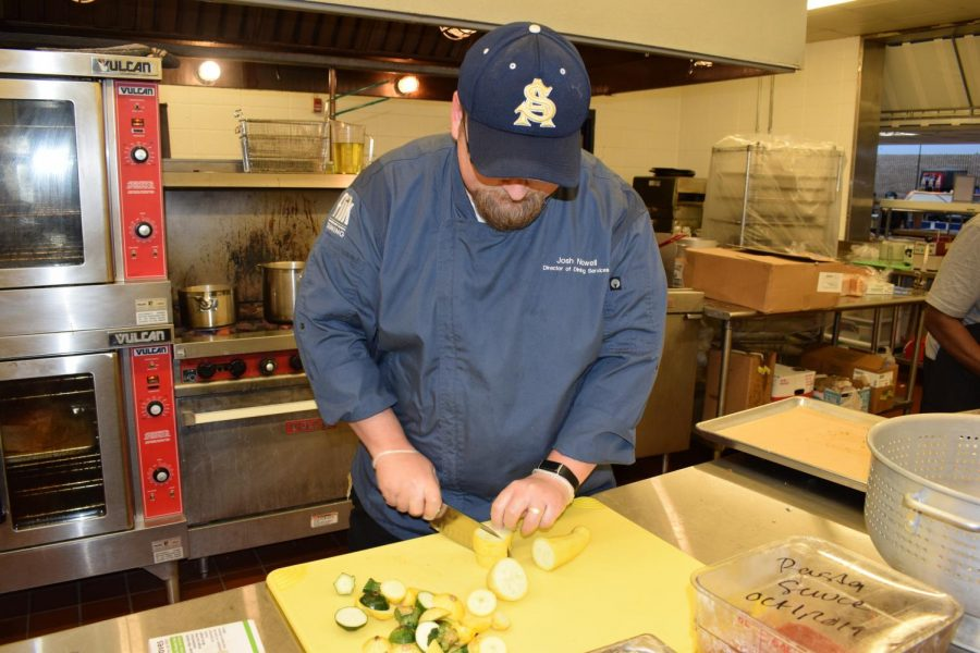 Chef Josh Roberts enjoys 'making people happy' in the Prentice Robinson Cafeteria