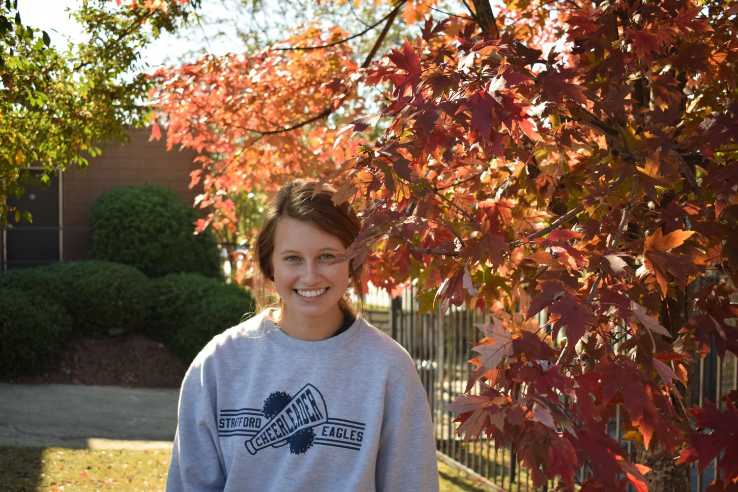 Autumn is sophomore Cate Eddlemon's favorite time of year