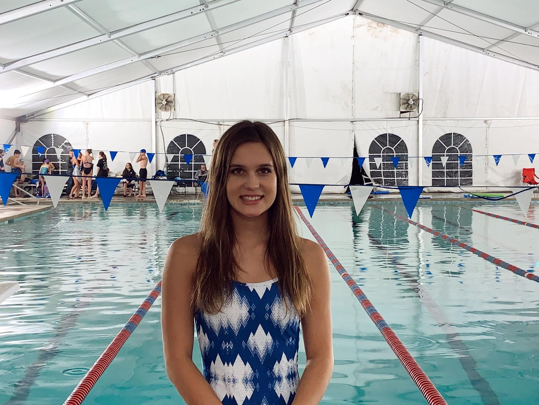 Freshman Athena Leskovics is ready to start her high school swim career