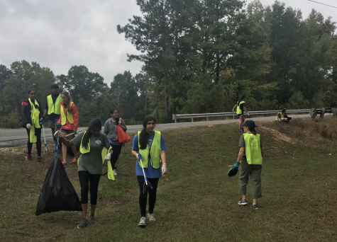 Ecology Club hits 'jackpot' in Peake Road cleanup