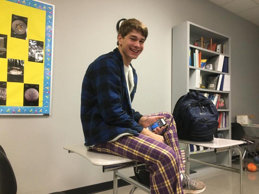 Ben Jamison, sittin in class
