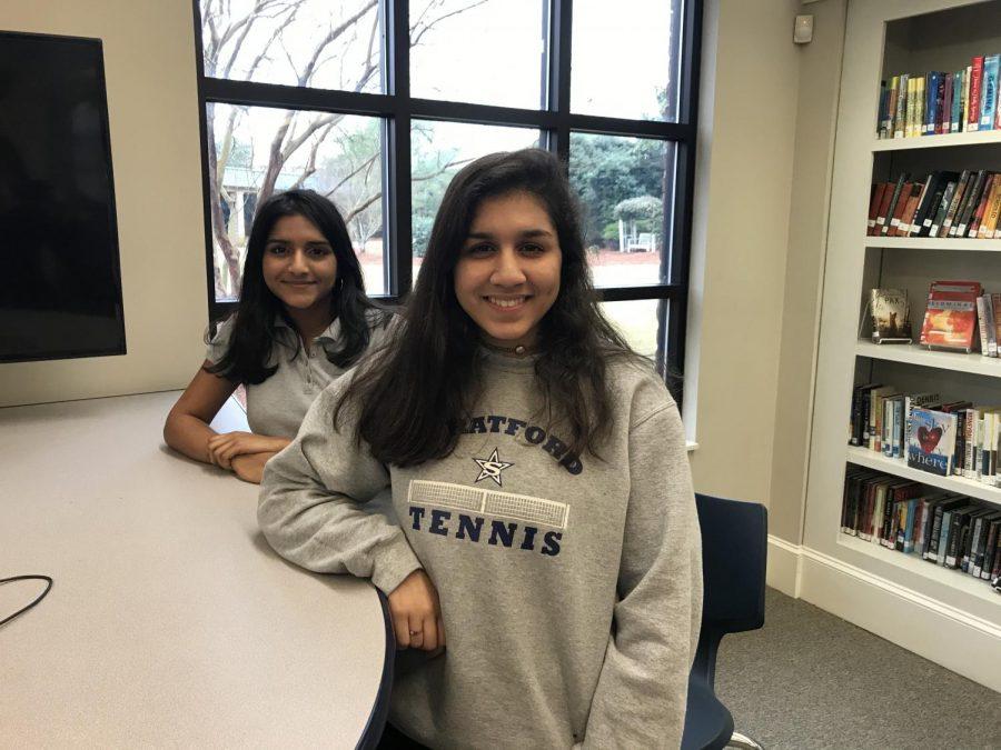 Stratford sophomores (L-R) Varnika Guduri and Esha Panse