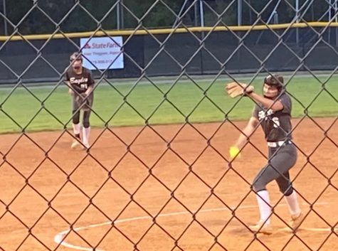 Kenna pitches against First Presbyterian Day School.