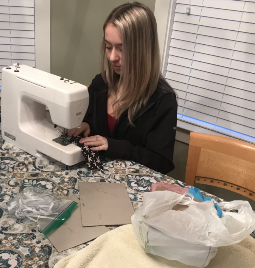 Hailey Firlotte spent her summer sewing masks
