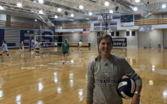Mackensie Turner is in her first year coaching Stratford's girls volleyball team
