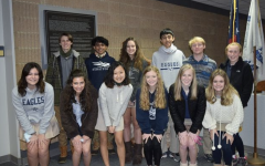 Front Row (L-R) Maddie Fackler, Sabina Ajjan, Jocelyn Tang, Sarah Pyles, Claudia Pope, Evie Tharpe. Back Row (L-r) Nathan Dummitt, Om Patel, Harmony Nagle, Haaris Ahmed, AJ Stevenson, Nora Jorgenson. Not Pictured Danny Zhao