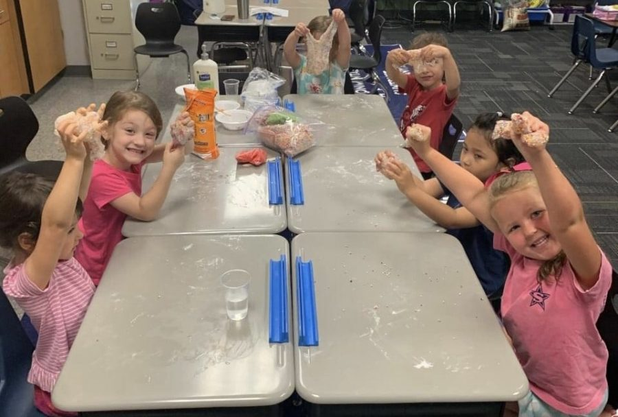 Slime camp is always popular with young campers